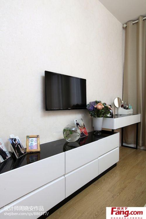 简约电视机背景墙图片
