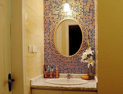 欧式洗手间马赛克背景墙装修效果图图片
