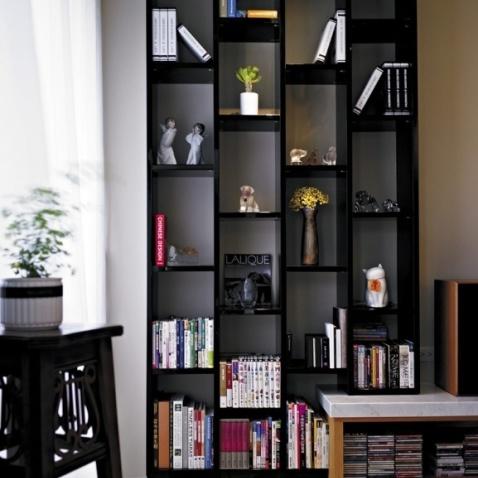 现代简约风格 书柜 图片