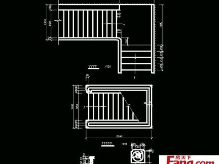 单跑楼梯平面图