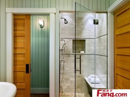 家装无框浴室玻璃门效果图
