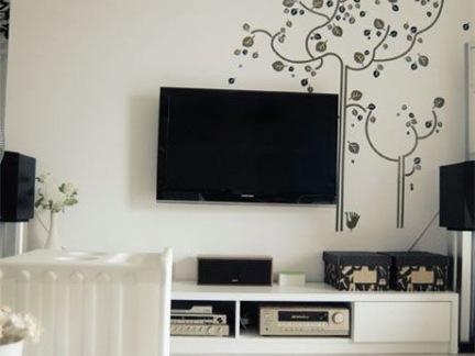 电视背景墙墙绘装修效果图
