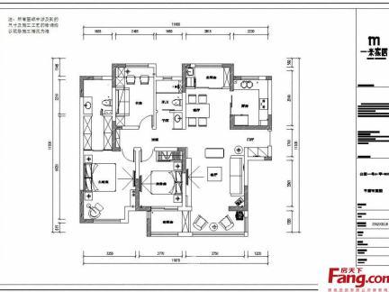 120平米三室一厅户型图-120平方三室一厅户型图 房天下装修效果图