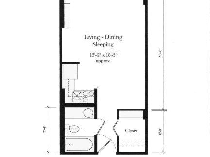 单身公寓平面图