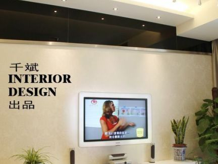 小客厅最新款电视柜背景墙效果图