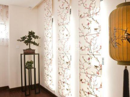 新中式过道窗帘图片图片