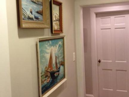 进门玄关挂画墙装修效果图
