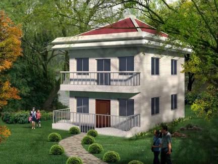 农村两层房子设计效果图-2018农村小户型房子设计图 房天下装修效果