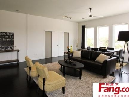 二室二厅简约客厅装修效果图