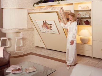 隐形床柜效果图大全图片