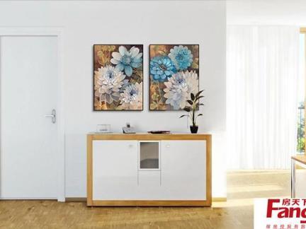 家居玄关手绘墙画图片