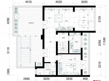自建二层复式楼设计图|2017年农村自建复式楼|自建复式楼户型图大全图片