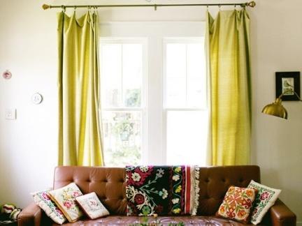9万打造田园美式风格小户型客厅窗帘装修效果图大全2014图片图片