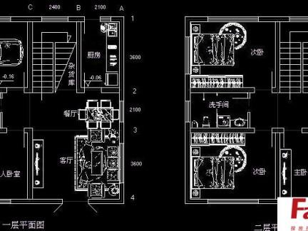2017别墅设计平面图-房天下装修效果图