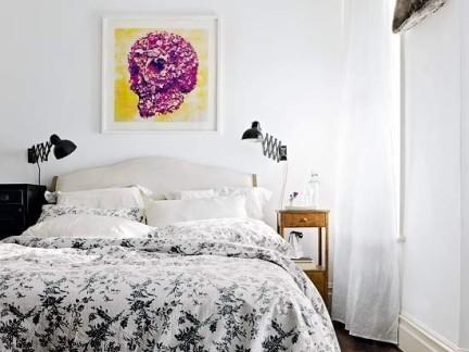 小复式清新宜人的卧室装修效果图大全2014图片