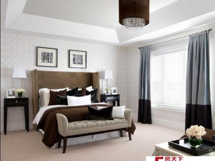 简单但是奢华的现代风格卧室装修效果图大全2014图片