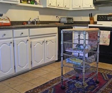 三室两厅欧式浪漫的厨房橱柜装修效果图大全