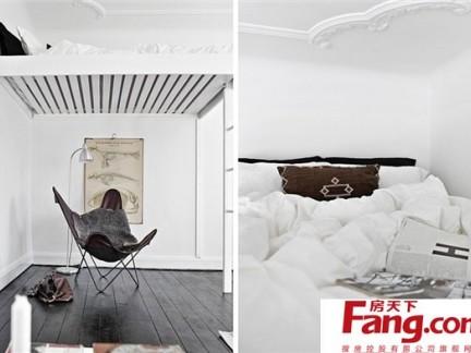 30平超小户型创意卧室装修效果图大全2013图片