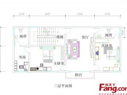 农村房屋二层设计平面图