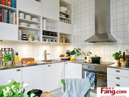 二室二厅北欧清新的厨房橱柜装修效果图大全2012图片