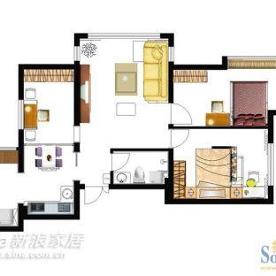 田园风格三居室装修效果图
