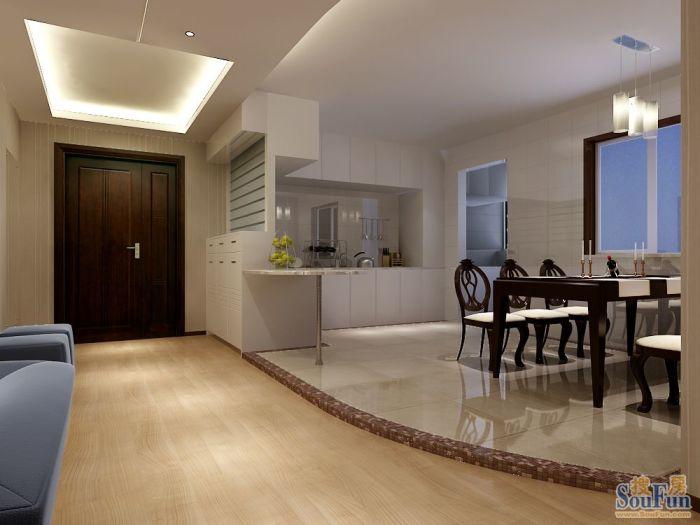 现代简约-120平米四居室-装修样板间