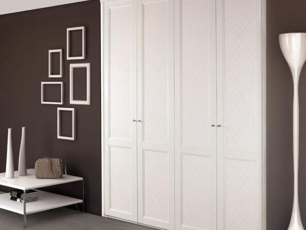 索菲亚洛林风尚系列白色皮纹柜