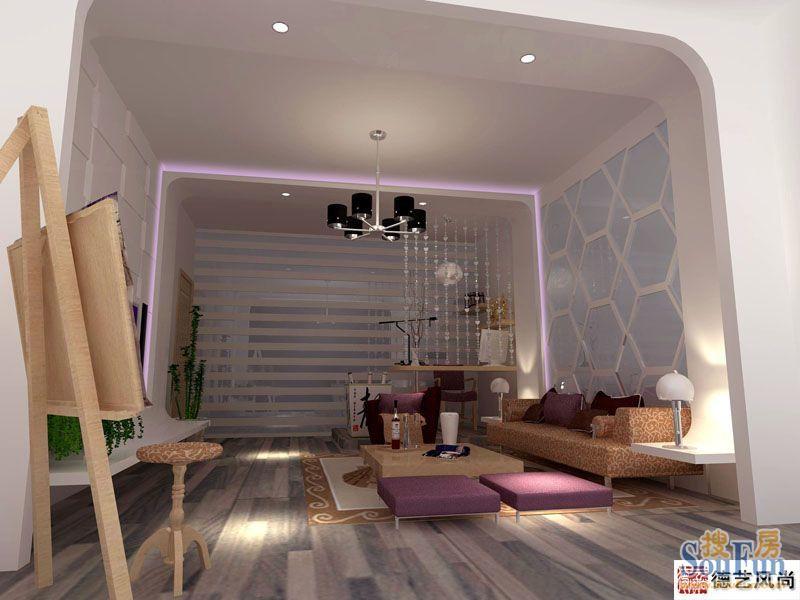 晶彩 93平米二居室装修图片 石家庄装修设计 搜房网装修家居网高清图片