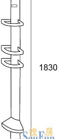 科勒K-17232T 淋浴房盛物架