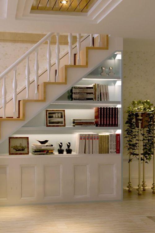 田园风格复式客厅装修效果图图片