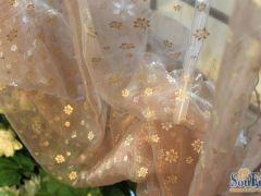 路地雅SH9600-3小金花纱罗曼布艺窗帘