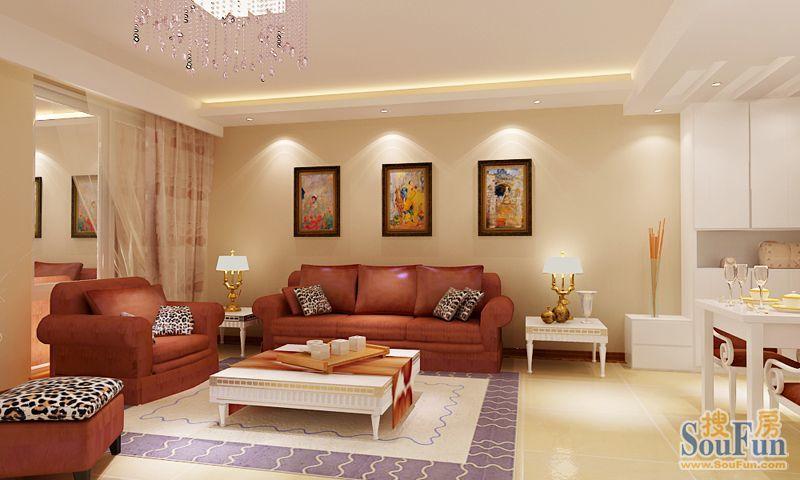 欣欣新村 现代简约 88平米三居室装修图片高清图片