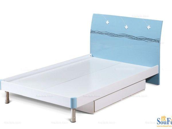 青春乐园QCLY-357-C-1现代风格环保儿童床