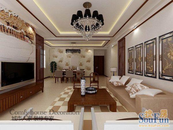 东南亚风格-180平米四居室-装修样板间