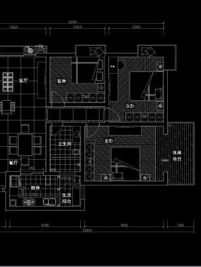 现代简约-200平米四居室装修设计