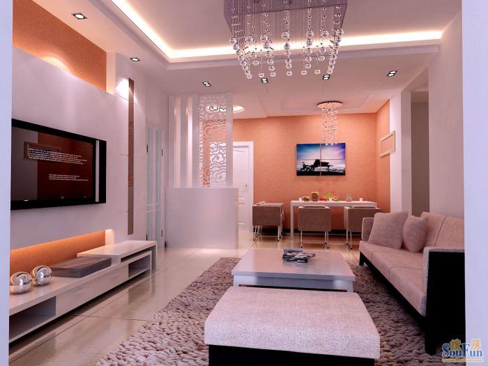 现代简约-85平米二居室-装修样板间