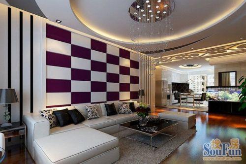 开平小区 三居室,开平小区现代简约156平米三居室装修设计图片 样板