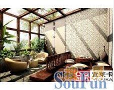 中空钢化玻璃顶阳光房