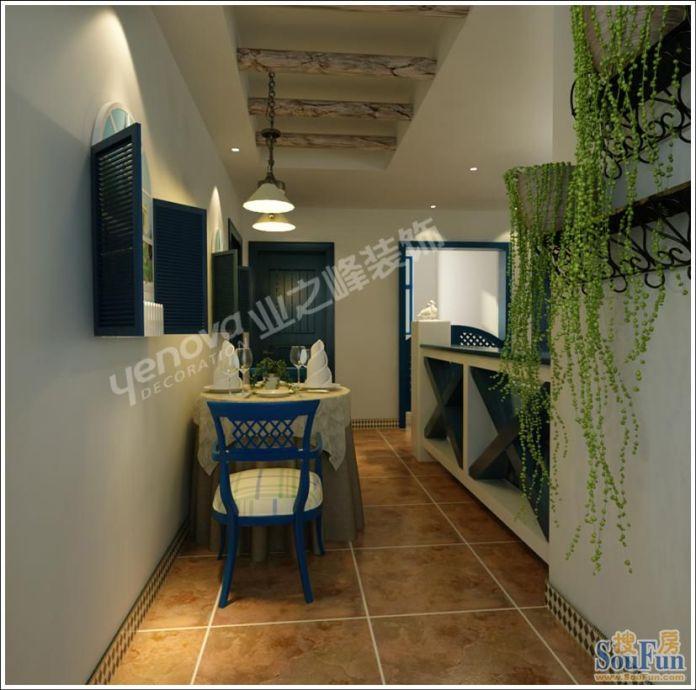 园 田园风格 94平米二居室装修图片高清图片