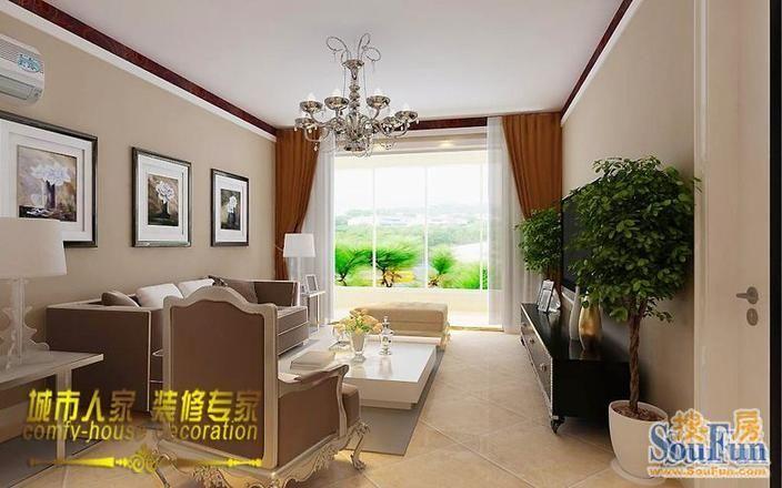 冠城 现代简约 90平米三居室装修图片高清图片