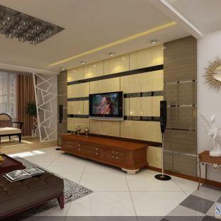 中式古典二居室装修效果图