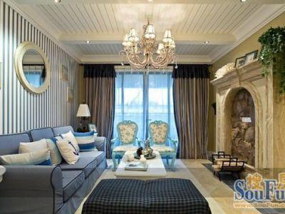 地中海-100平米二居室装修样板间