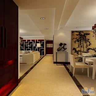 西式古典四居室装修效果图