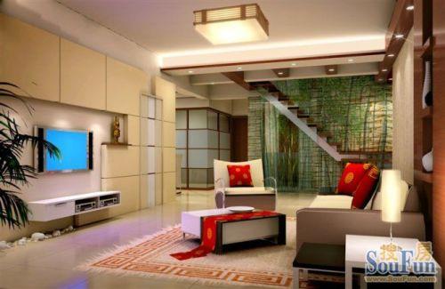 31平米三居室装修设计图片 样板间 实景图 搜房网装修设计网高清图片