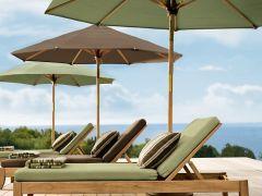 地中海之风实木沙滩椅户外桌椅