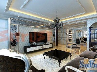 西式古典-130平米三居室装修样板间