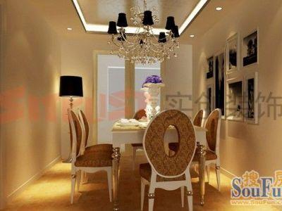 西式古典-140.2平米三居室装修样板间