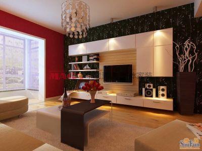 现代简约-96平米二居室装修设计