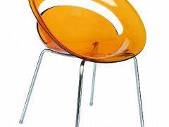 t.Cow 透明橙休闲椅子