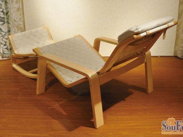 青岛一木弯曲木休闲椅0001